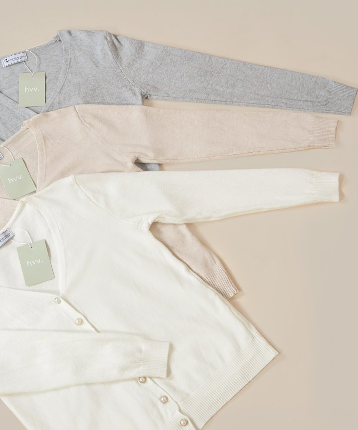 Gilded Pearl Knit Cardigan - Bundle of 3