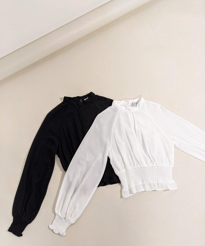 Juilliard Keyhole Puff Sleeve Blouse - Bundle of 2