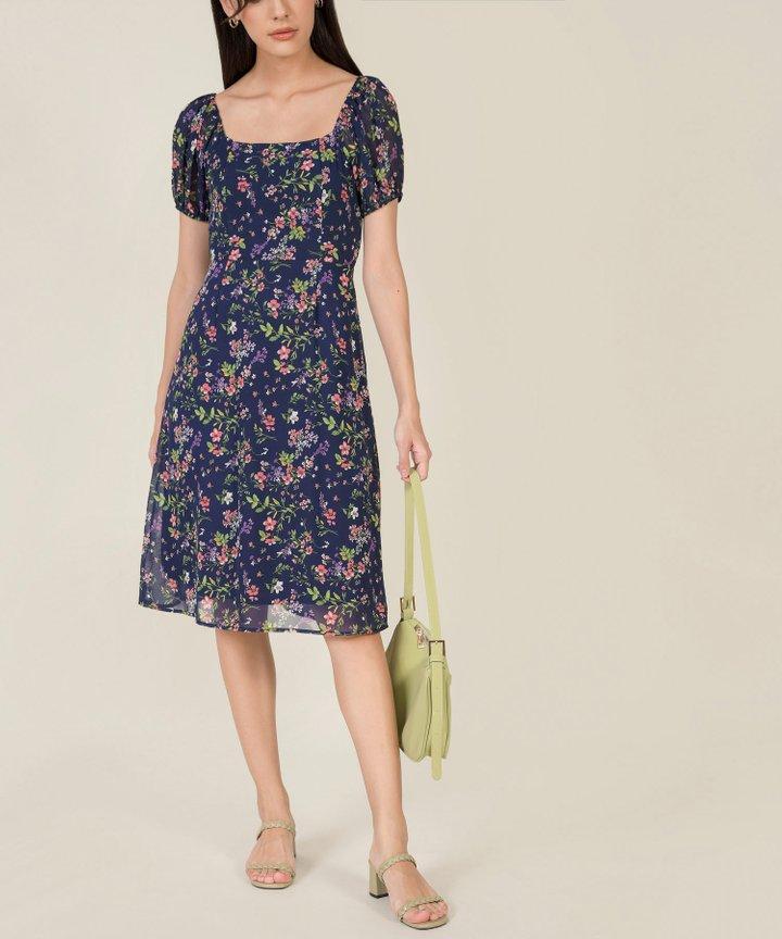Margaux Floral Midi Dress