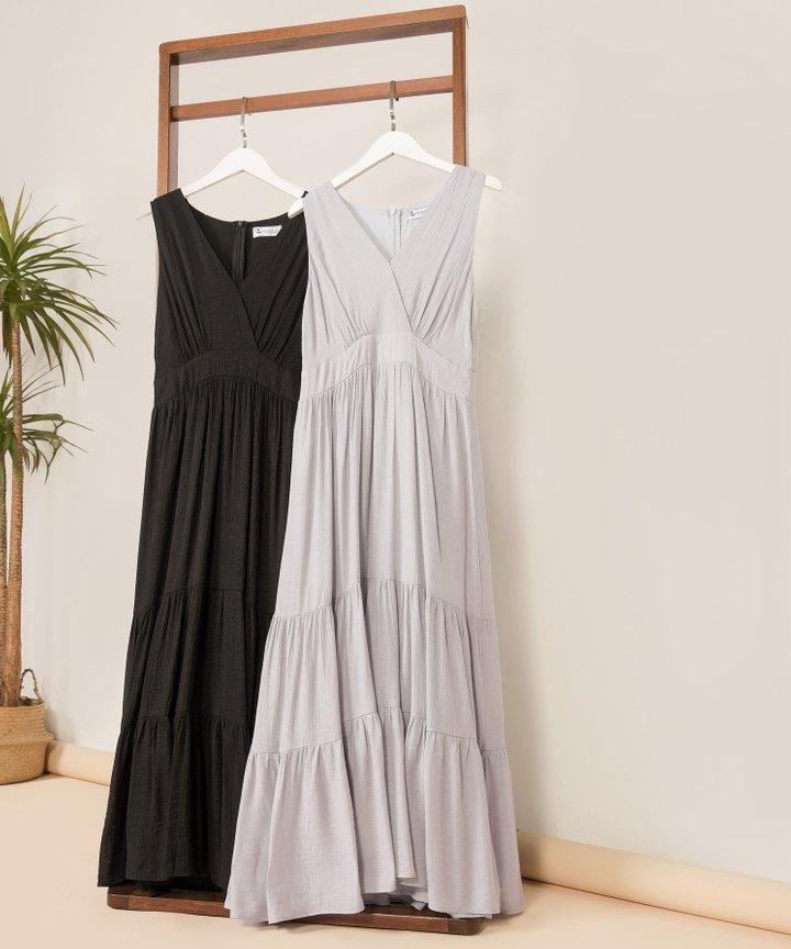 Risa Surplice Tiered Maxi Dress - Bundle of 2