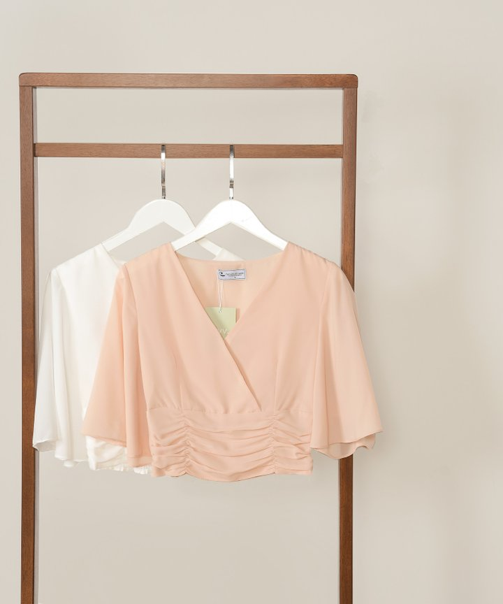 Thalia Ruched Cropped Top - Bundle of 2