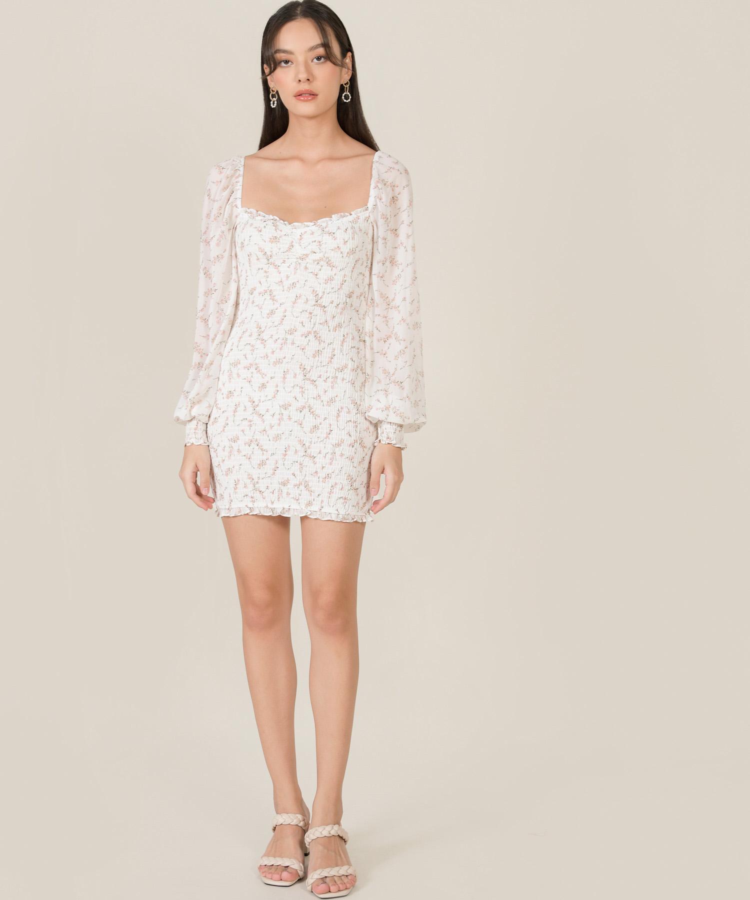 adelia-floral-smocked-dress-white-1