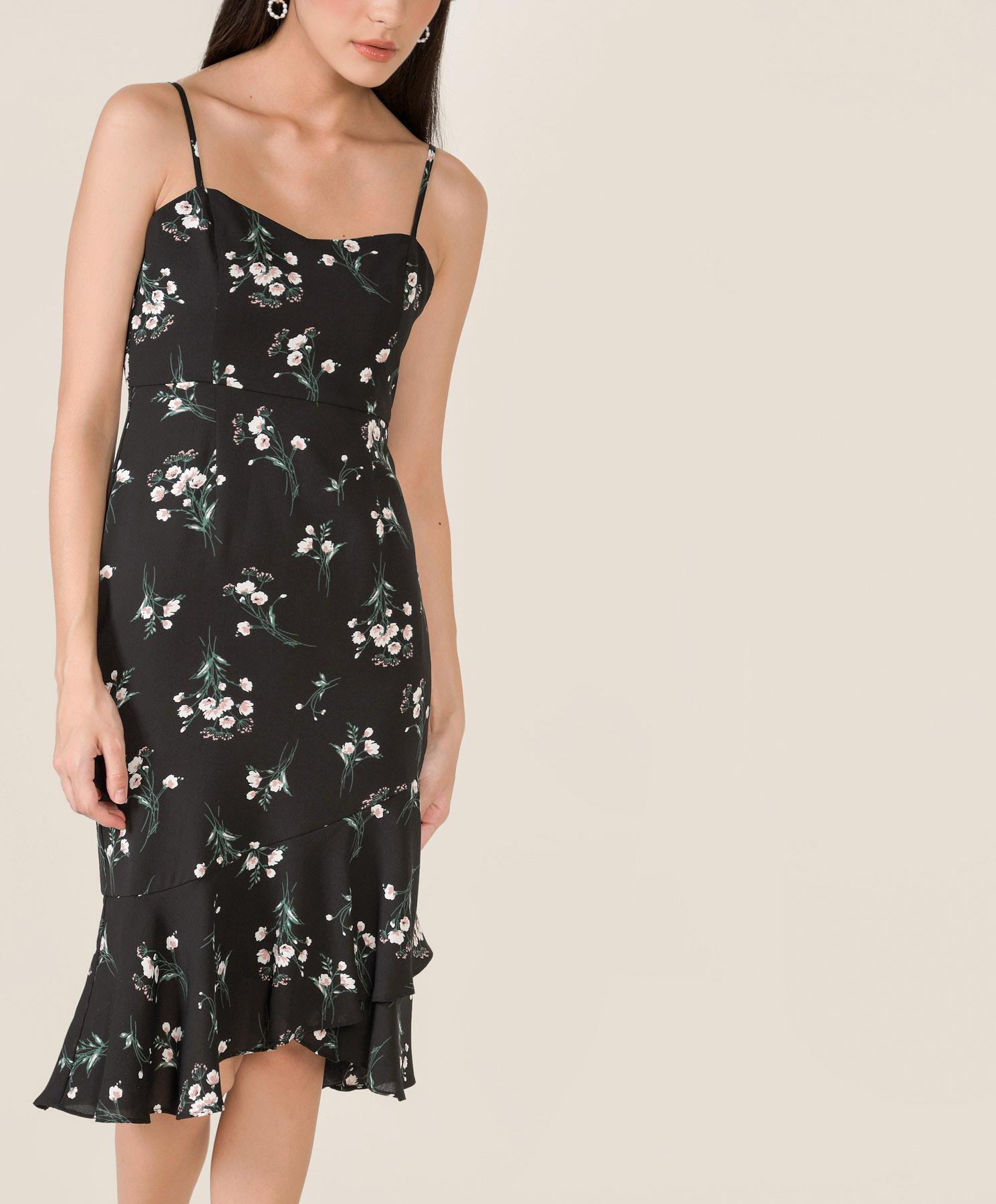 artemis-floral-mermaid-midi-dress-black-1