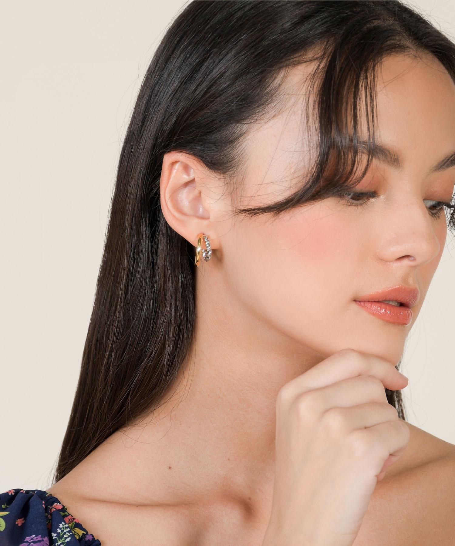 dreyfuss-mini-double-hoop-earrings-gold