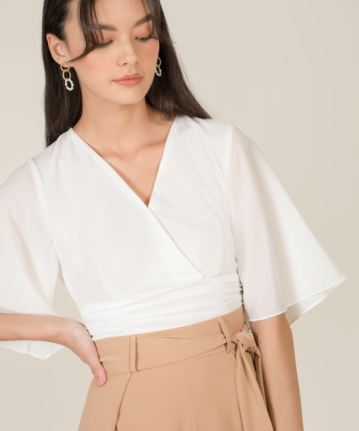 thalia-ruched-cropped-top-white-1