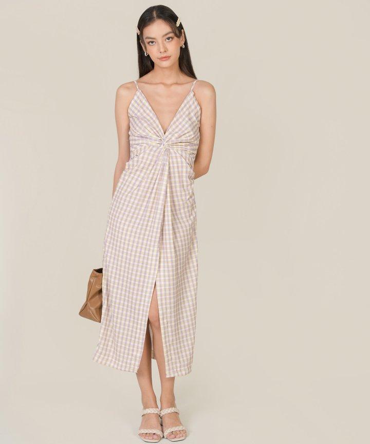 Amory Gingham Knot Midaxi Dress