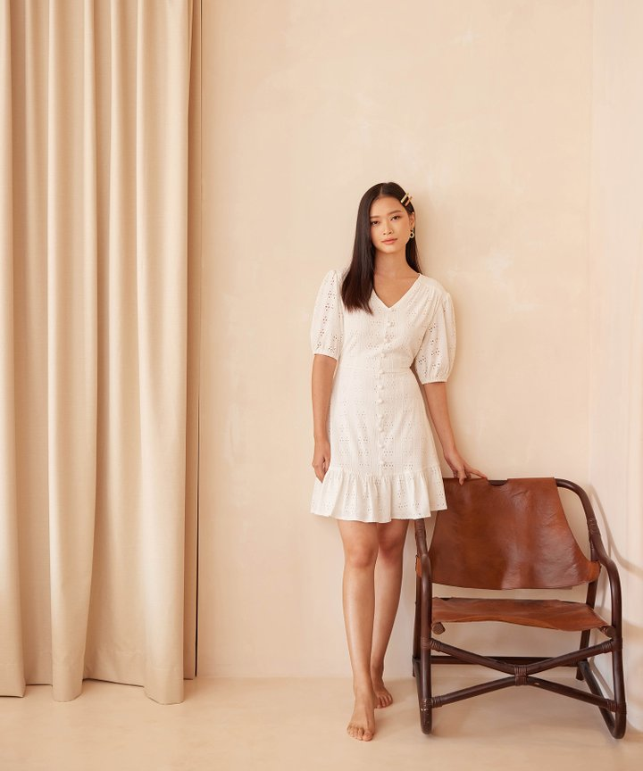Isolde Broderie Button Down Dress - Bundle of 2