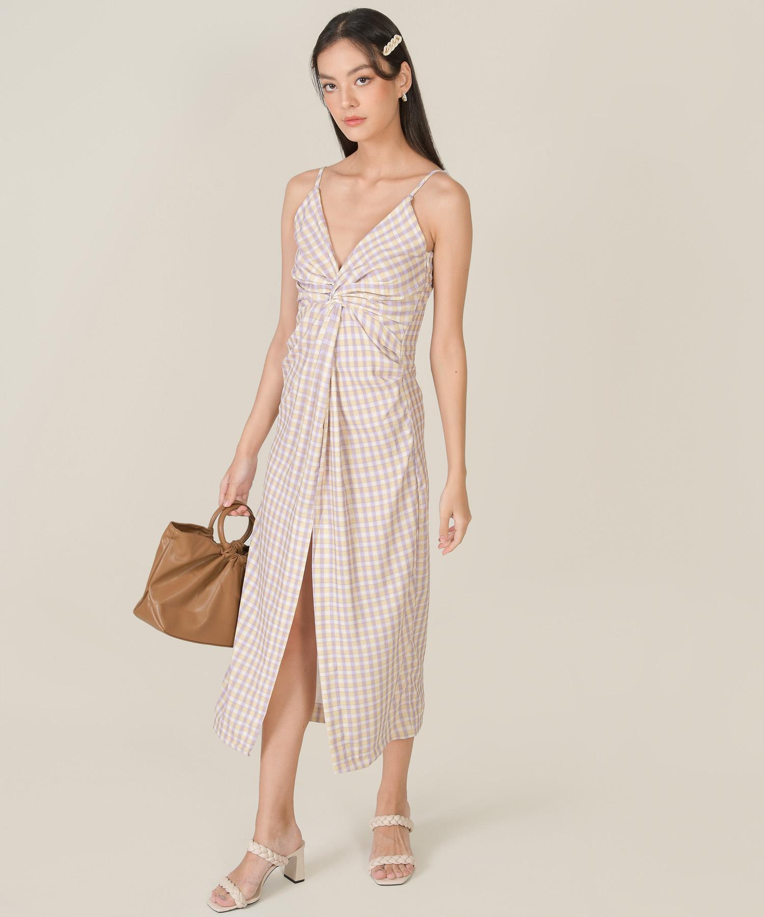 amory-gingham-knot-midaxi-dress-multi-1