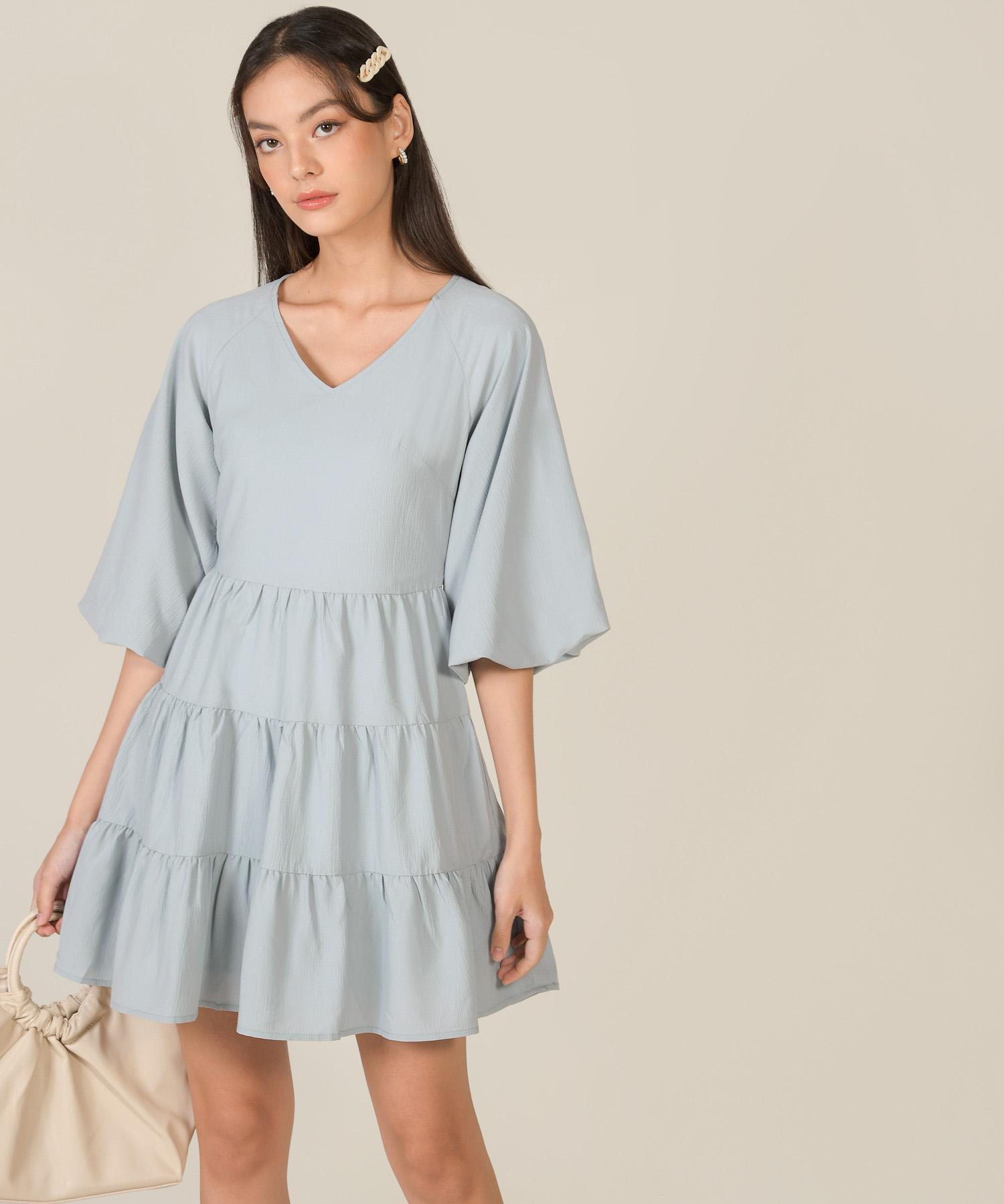 bellina-puff-sleeve-tiered-dress-mist-blue-1