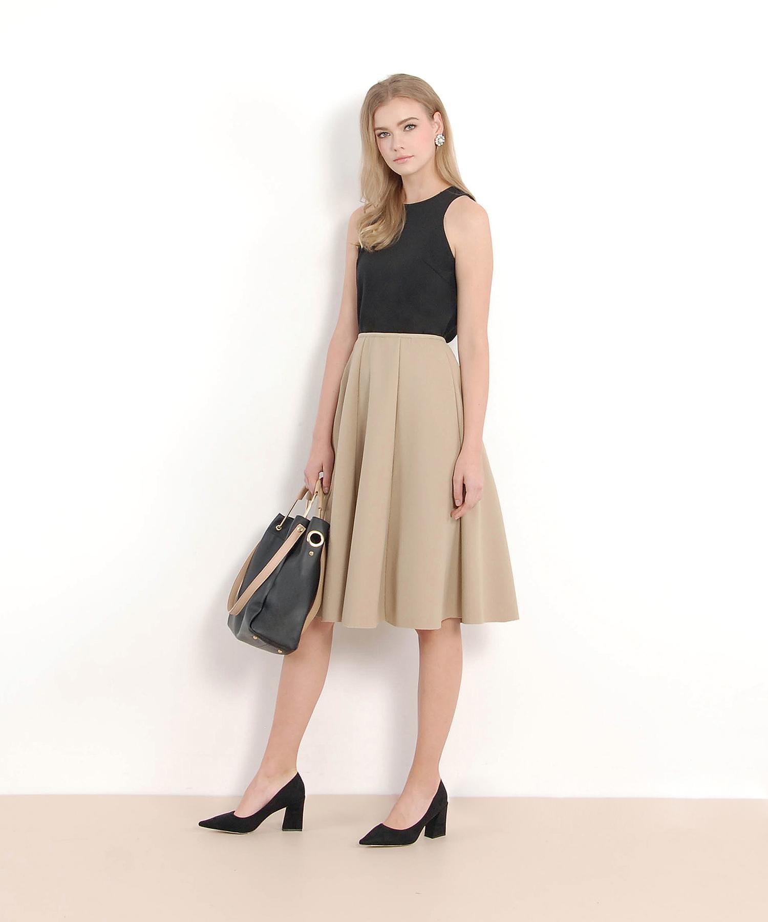 Duchess Structured Midi Skirt - Khaki | Her Velvet Vase